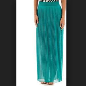 ✨Worthington Pleated Maxi turquoise - teal skirt ✨
